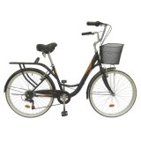 """ciudad de acero Bike de 26 """" Frame con Shimano 6sp Lady Bicycles"""