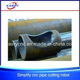 Tipo pesado máquina de estaca do plasma do CNC do controlo automático para a tubulação do metal