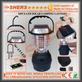 Angeschaltener 6 LED-kampierender Laterne USB-Anschluss-ankurbelnder Dynamo-Griff-hängender Solarhaken
