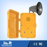 Telefone do Internet do túnel, telefone à prova de intempéries, intercomunicador sem fio para a indústria