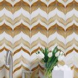 Basisrecheneinheits-kundenspezifische geformte Houston-Badezimmer-Buntglas-Wand-Mosaik-Fliesen