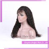 マレーシアのブラジルの巻き毛のRemyの人間の毛髪の半分のかつら