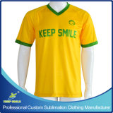 Jerseys de encargo del fútbol de la sublimación para las personas del juego de fútbol