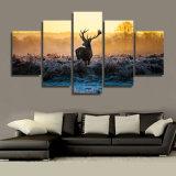 HDはアフリカの日没のシカのグループの絵画キャンバスの版画室の装飾プリントポスター映像のキャンバスMc096を印刷した