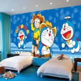 子供部屋のためのカスタム取り外し可能な防水かわいい日本製アニメの漫画の写真の壁の壁画