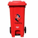 Plastiksortierfach-Gummirad-Abfalleimer des abfall-120L für im FreienHD2wwp120c-R