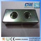 Block mit Neodym-Magnet-Superstärken-Magnet-Eigenschaften des Loch-N45