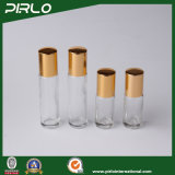 3ml 5ml borran la botella de cristal de lujo del desodorisante del perfume con Portable de la tapa de aluminio del oro el pequeño