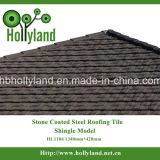 Azulejo de material para techos revestido de piedra del metal (tipo) de la ripia (HL1104)