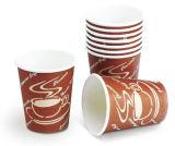 8oz使い捨て可能なペーパー熱いコーヒーカップ