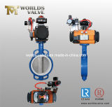 Positioner (D67X-10/16)를 가진 압축 공기를 넣은 Wafer Butterfly Valve