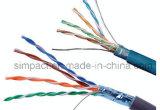 Испытание двуустки проходя кабелем LAN FTP Cat5e 100 омов