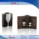 Caixa dupla de couro do vinho do plutônio (5592R6)