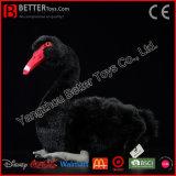 Cygne noir de cygne d'ASTM de peluche de jouet de peluche réaliste molle réaliste d'oiseau
