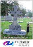대중적인 교차하는 작풍 Polished 화강암 묘지 묘비