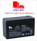 a válvula 12V9ah regulou a bateria solar