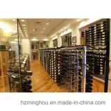 Cremalheira de indicador autônoma do varejo do vinho do assoalho do metal de 180 frascos