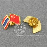 Thailand und chinesisches Markierungsfahnen-Abzeichen, Andenken-ReversPin (GZHY-LP-003)
