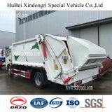 Dongfeng 6-7cbm 압축 쓰레기 쓰레기 압축 분쇄기 트럭