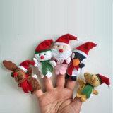 Marionnette éducative tôt de doigt de peluche de cadeau de Noël de ventes chaudes