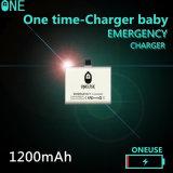 ユニバーサル使用法のための使い捨て可能な充電器1200mAh緊急時の移動式力バンク