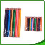 Le crayon en bois de constructeurs de travail de charpentier en bois aplati aux pôles avec du ce a reconnu