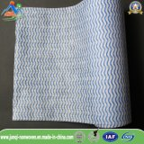 50%Viscose+50%PP波は世帯のための家具の清拭布を縞で飾る