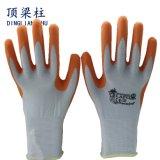 Sicherheits-Handschuh des Polyester-13G mit dem Latexschaum beschichtet