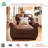 Sofà di cuoio tradizionale della mobilia dell'oggetto d'antiquariato classico del salone