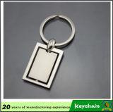A venda por atacado personalizou seu próprio espaço em branco Keychain do metal do logotipo