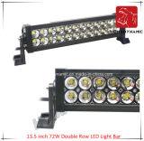 LED 차 빛 13.5 인치 72W 도로 빛과 LED 모는 빛 떨어져 SUV 차 LED를 위해 방수 두 배 줄 LED 표시등 막대