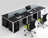 Partición Black Workstation Office con pies de acero negro (SZ-WSL329)