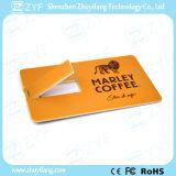 En todo el mundo popular de tarjeta de crédito de 16 GB Drive USB con Logo (ZYF1831)