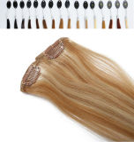 African AmericanのためのHair ExtensionsのRemy Straight Hair Clip