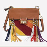 Sacos Emg4695 das senhoras da forma do Tassel das bolsas do couro genuíno de sacos de ombro