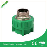Graus da manufatura PPR de China 90 assentaram a inserção de bronze plástica do cotovelo PPR cotovelo de 90 graus