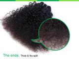 Unverarbeiteter brasilianischer lockiges Haar-Jungfrau-Menschenhaar-Einschlagfaden des Afro-100%