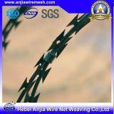 Колючая проволока бритвы PVC Coated для разделительной стены с SGS