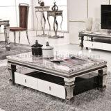 Mesa de centro de mesa de té de mármol de estilo europeo