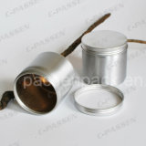 Choc en aluminium de luxe de sucrerie avec le couvercle de vis (PPC-AC-042)