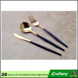 Couverts élégants de vaisselle plate de vaisselle de cuillère de fourchette de couteau d'acier inoxydable