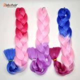 Synthetischer Haar Ombre zwei Ton färbte Kanekalon riesige Kasten-Flechten-Haar-Extension 100% Lbh 048