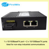 Interruptor industrial Unmanaged com 1 Fe e 2 portas de Tx