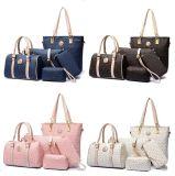 Bolso determinado del diseñador de moda de señora Purse de la mujer de la impresión de la PU del bolso compuesto de 6 PCS