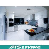 Mobília barata dos gabinetes de cozinha do bloco liso de projeto moderno do preço (AIS-K949)