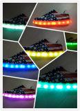 6 luces de tira opcionales del zapato de los colores LED