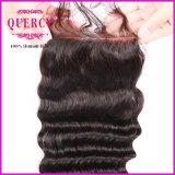 Chiusura poco costosa del merletto, capelli profondi dell'onda, colore naturale