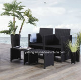 Insieme di caffè esterno piegato della mobilia del giardino con il ristorante Chair&Table della Tabella di Chair&