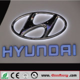 mémoire 4s annonçant le logo fixé au mur acrylique de véhicule d'éclairage du chrome DEL