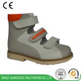 Zapato ortopédico de cuero orto de la tolerancia para el pie plano correctivo